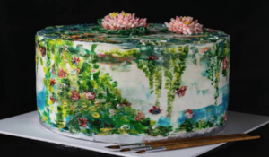Hand painted decorations on cakes